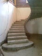 Изготовление лестниц из бетона.